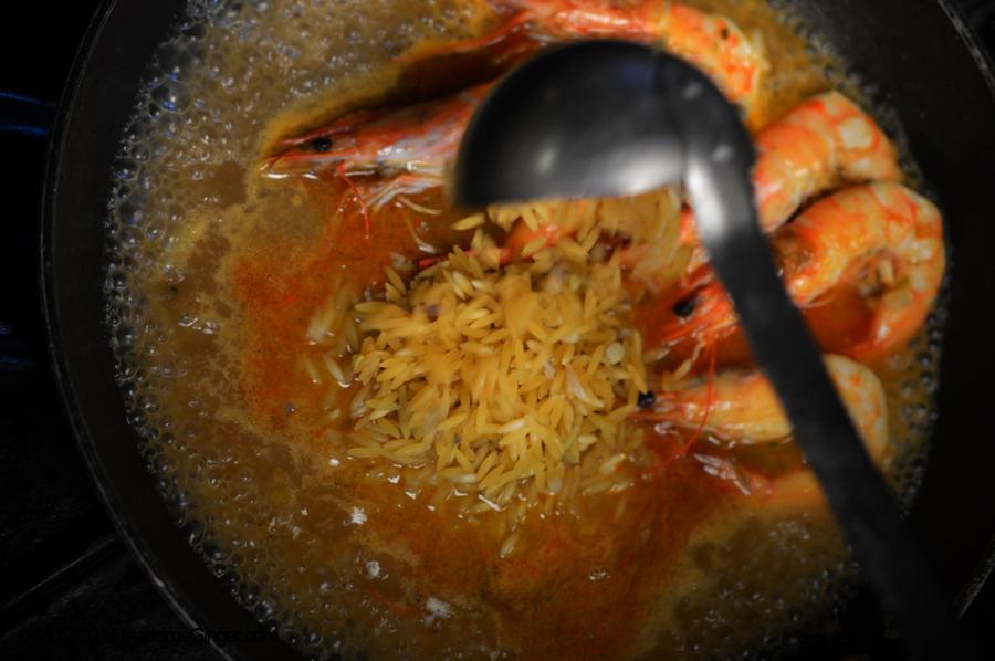 Κριθαρότο με γαρίδες & φινόκιο