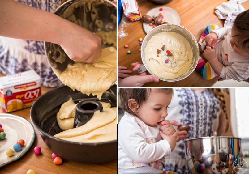 Κέικ Βανίλιας με σοκολατένια αυγά 3