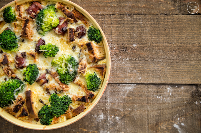 Brocolli & Bacon Strata 4